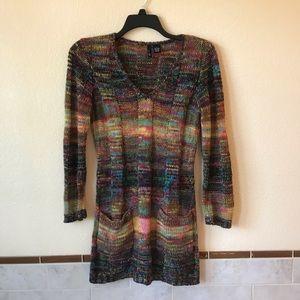Ultra Flirt Sweater Dress Tunic Open Knit Cover Up